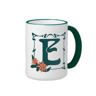 Fancy letter e coffee travel mugs - Fancy travel coffee mugs ...
