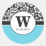 Fancy Wedding Damask Stickers