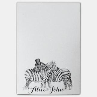 Fancy Wedding zebras ink drawing Post-it® Notes