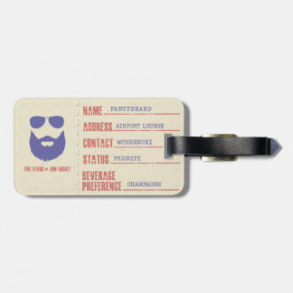 Fancybeard Luggage Tag