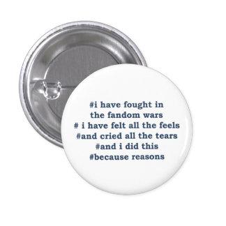 Fandom Wars 3 Cm Round Badge