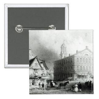 Faneuiel Hall, Boston 15 Cm Square Badge
