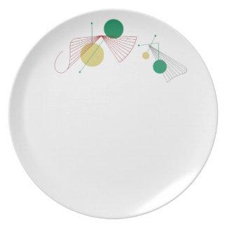 """FANFARE Plate 10"""" Melamine Dinner"""