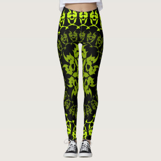 fang green circle leggings