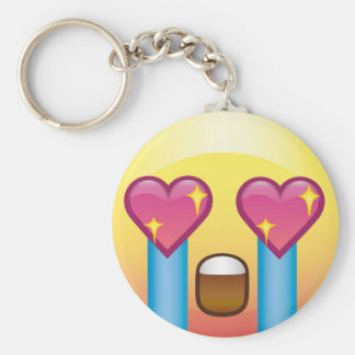 Fangirl Excited Crying Love Happy Emoji Keychain