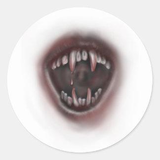 fangs classic round sticker