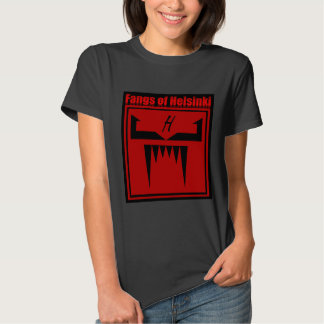 Fangs of Helsinki Logo with text Tshirt