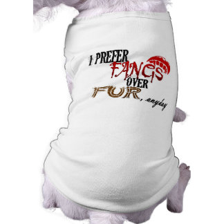 Fangs over Fur Sleeveless Dog Shirt