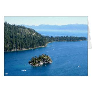 Fannette Island, Lake Tahoe Stationery Note Card