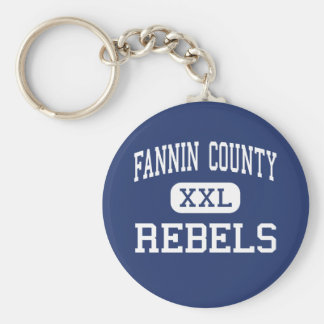 Fannin County - Rebels - High - Blue Ridge Georgia Basic Round Button Key Ring