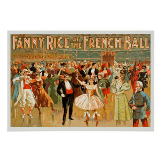 Fanny Rice At The French Ball Vintage Poster