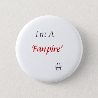 """fanpire"" - vampire 6 cm round badge"