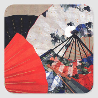 Fans by Hokusai Square Sticker