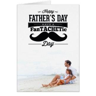 Fantachetic Mustache Happy Father's Day Photo Card