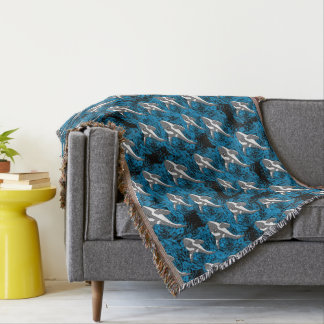 FantaSea Killer Whale Throw Blanket