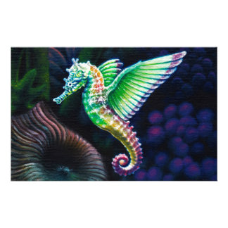 Fantasea Winged Rainbow Seahorse Custom Stationery