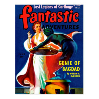 Fantastic Adventures - Genie of Bagdad Postcard