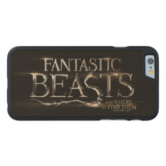 Fantastic Beasts And Where To Find Them Logo Carved Maple iPhone 6 Case