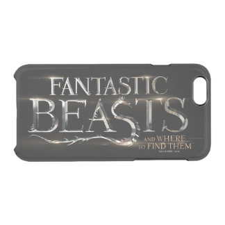 Fantastic Beasts And Where To Find Them Logo Clear iPhone 6/6S Case