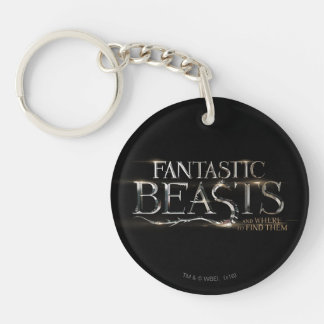 Fantastic Beasts And Where To Find Them Logo Double-Sided Round Acrylic Key Ring