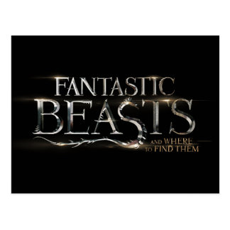 Fantastic Beasts And Where To Find Them Logo Postcard