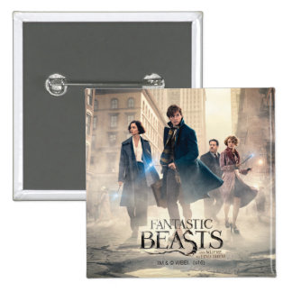 Fantastic Beasts City Fog Poster 15 Cm Square Badge