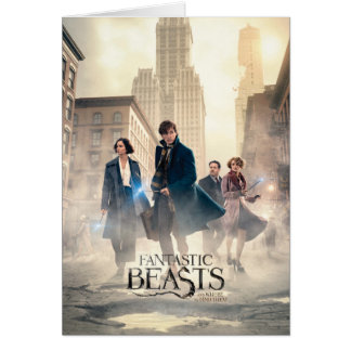 Fantastic Beasts City Fog Poster Card