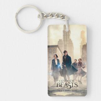 Fantastic Beasts City Fog Poster Key Ring