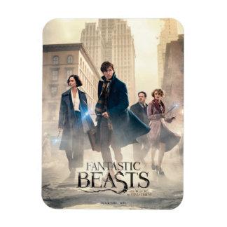 Fantastic Beasts City Fog Poster Rectangular Photo Magnet