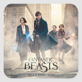Fantastic Beasts City Fog Poster Square Sticker