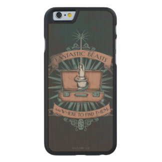 Fantastic Beasts Newt's Briefcase Graphic Carved Maple iPhone 6 Case