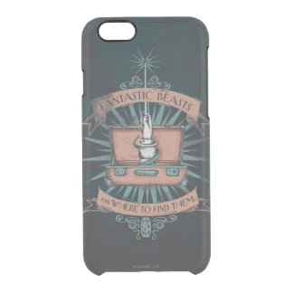 Fantastic Beasts Newt's Briefcase Graphic Clear iPhone 6/6S Case