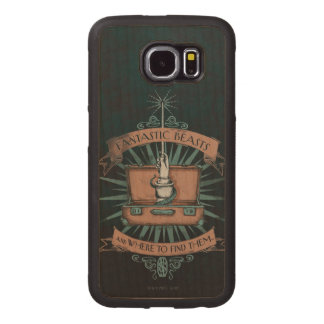 Fantastic Beasts Newt's Briefcase Graphic Wood Phone Case