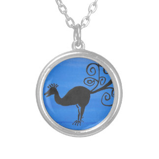 Fantastic Bird Silver Plated Necklace