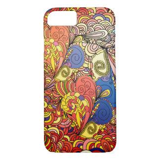 Fantastic Bright floral pattern Doodle art iPhone 8/7 Case