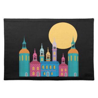 Fantastic City of Towers Under the Moon Placemat