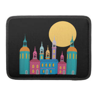 Fantastic City of Towers Under the Moon Sleeve For MacBooks