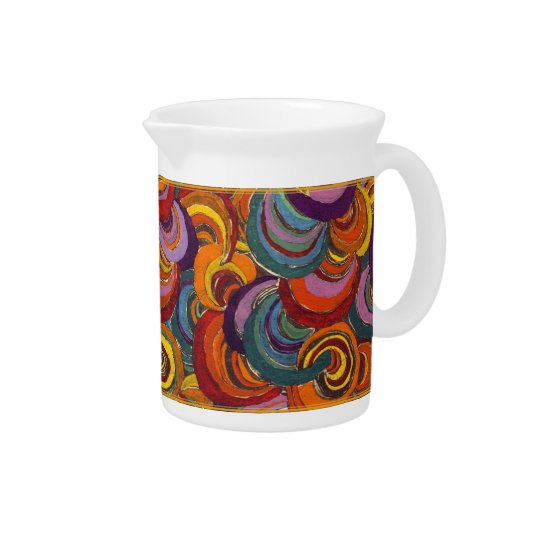 Fantastic Colourful Bloomsbury Swirls Pitcher