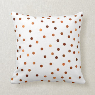 Fantastic Copper Dots pattern throw pillow