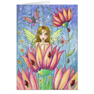 Fantastic Fairy In Garden Card by Molly Harrison