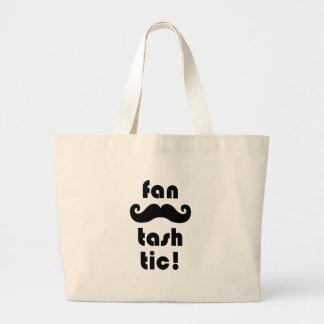 Fantastic 'Fan-Tash-Tic' Moustache Large Tote Bag