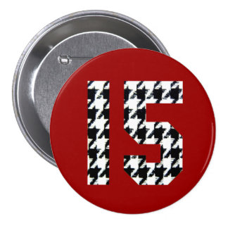 Fantastic Fifteen Houndstooth Print 7.5 Cm Round Badge