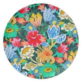 Fantastic Folk Flower Garden Plate