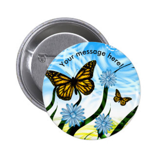 Fantastic Graphic Butterflies Flutter By Collage 6 Cm Round Badge