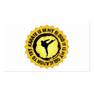 Fantastic Karate Seal Pack Of Standard Business Cards