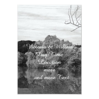 "fantastic landscape Austria 23 BW 5"" X 7"" Invitation Card"