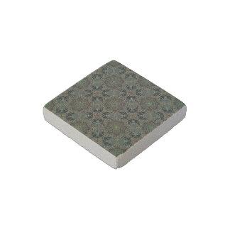 fantastic mandala design green stone magnet