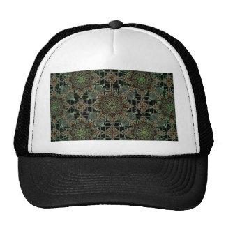 fantastic mandala design green hats