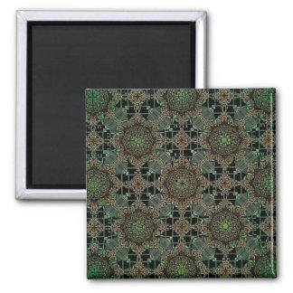fantastic mandala design green fridge magnets