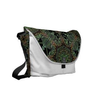 fantastic mandala design green courier bags